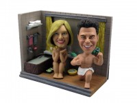 Naked Bathroom Couple Bobbleheads
