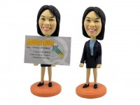 Businesswoman Cardholder Professional Bobblehead