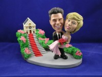 Groom Carrying Bride Church Theme Bobblehead
