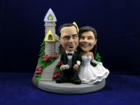 Bride and Groom Honeymoon Castle Theme Bobbleheads
