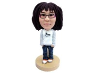 Bookworm Betty Casual Teenager Bobblehead
