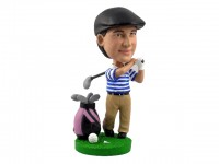 Golfing Bobblehead with Bag