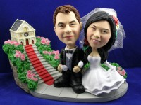 Wedding Photo Church Theme Bobblehead Couple