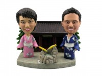 Japanese Theme Bobblehead Couple