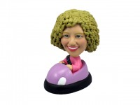 Female Bumper Car Bobblehead