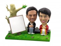 Kimono Outdoor Portrait Bobblehead Couple