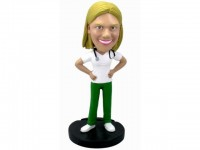 Female Physician Bobblehead