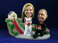Wedding Engagement Bobblehead Couple