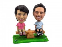 See-Saw Couple Theme Bobbleheads