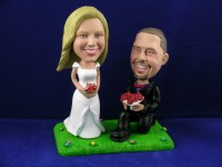 Groom on Bent Knee Cake Topper Bobbleheads