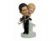 Wedding Bobbleheads Football Lover