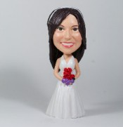 A Simple Halter Wedding Dress Bobblehead