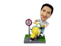 Bobblehead Motorcyclist motocycle motorbike